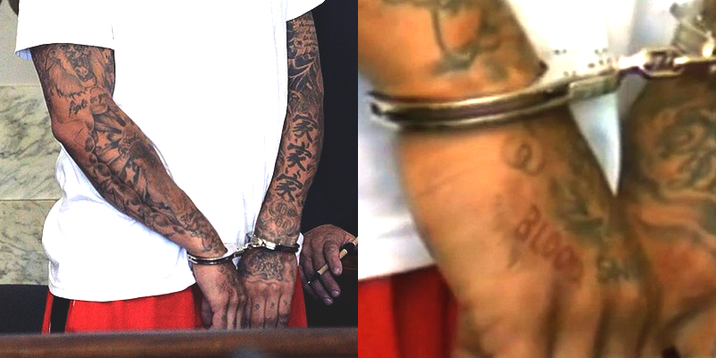 gang tattoos bloods aaron - photo #12