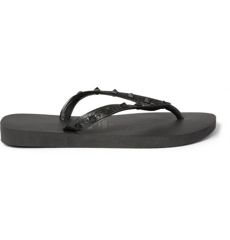 valentino havaianas rubber flip flops media anarchist. Black Bedroom Furniture Sets. Home Design Ideas