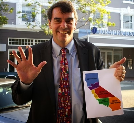 tim draper with map
