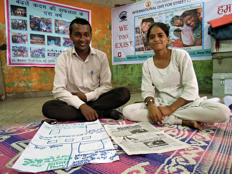 1 Shanno, editor of Balaknama newspaper, and Vijay, her chief reporter. At the offices of CHETNA (Childhood Enhancement through Training and Action), the supporting NGO